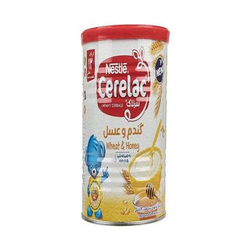 سرلاک گندم و عسل به همراه شیر