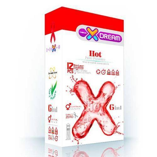 کاندوم ایکس دریم مدل HOT بسته ۱۲ عددی