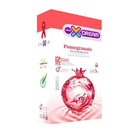 کاندوم ایکس دریم مدل Pomegranate بسته ۱۲ عددی