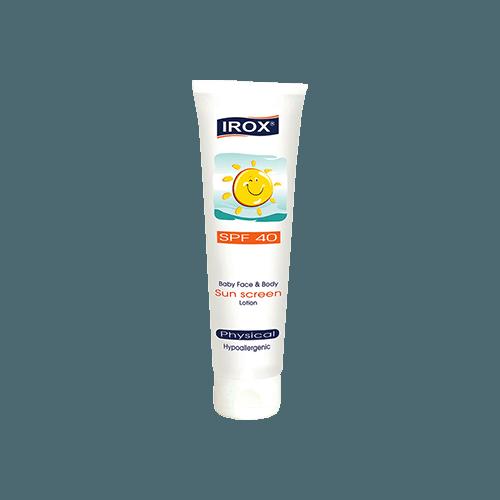 لوسیون ضد آفتاب صورت و بدن اطفال SPF40 ایروکس