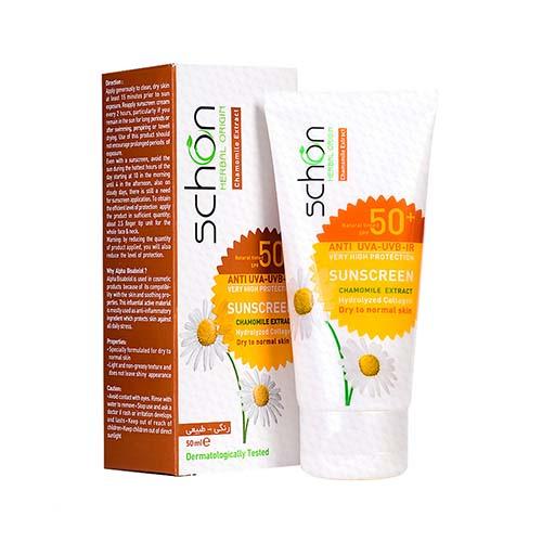 کرم ضد آفتاب Spf50 مناسب پوست نرمال تا خشک شون