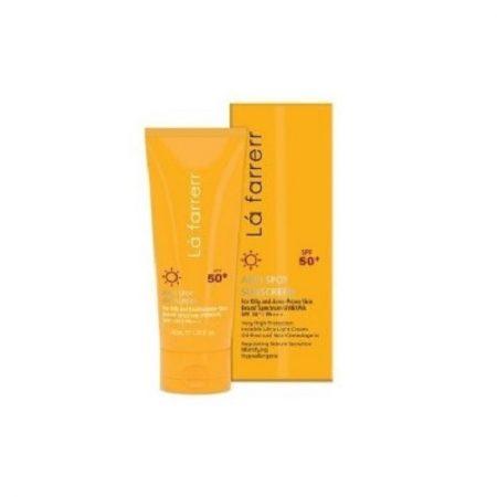 کرم ضد آفتاب و ضدلک بی رنگ لافارر (پوست های خشک)(SPF50)
