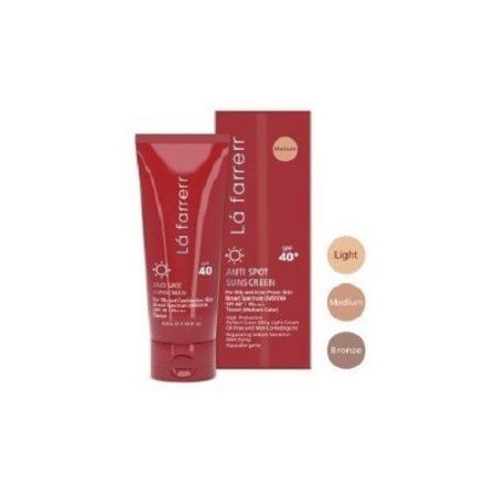 کرم ضد آفتاب و ضد لک رنگی لافارر ( پوست های چرب) (SPF 40)