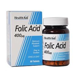 قرص فولیک اسید 400 میکروگرم هلث اید