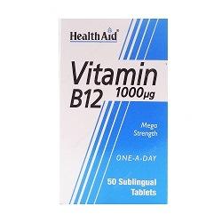 قرص زیر زبانی ویتامین ب12 هلث اید (1000 میکروگرم)