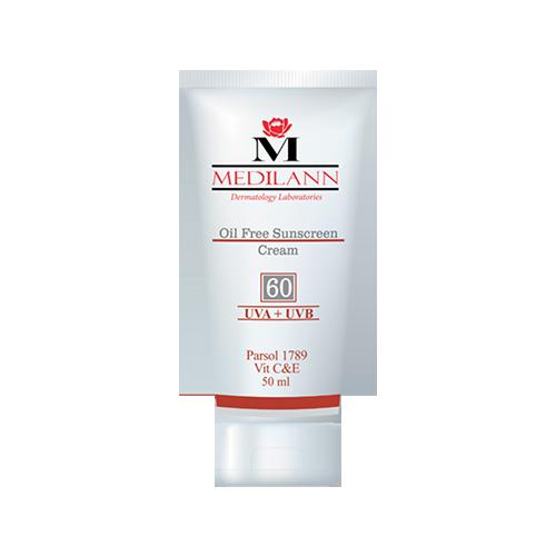 کرم ضد آفتاب رنگی فاقد چربی SPF60 مدیلن
