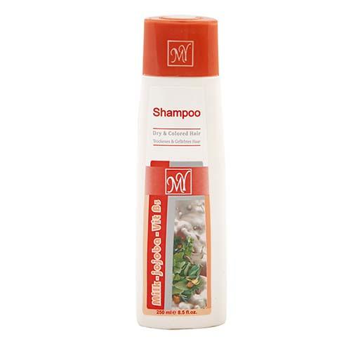 شامپو شیر و جوجوبا مناسب موهای خشک و رنگ شده مای