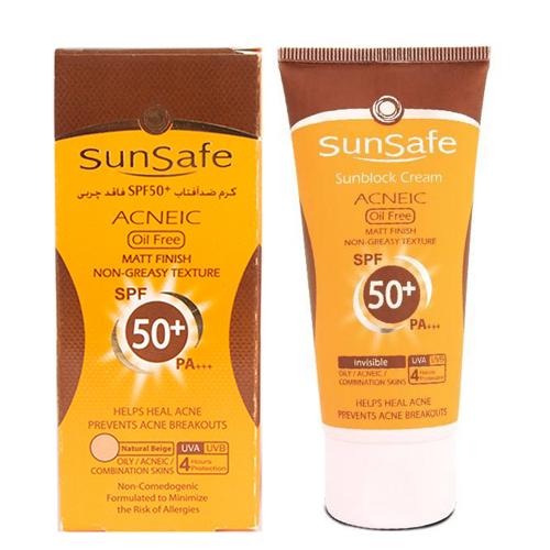 کرم ضد آفتاب SPF50 فاقد چربی سان سیف