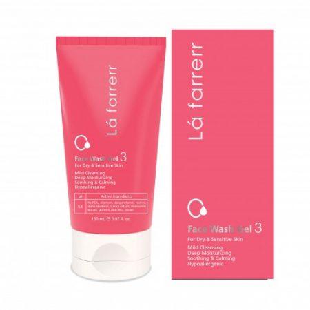 ژل شستشوی صورت مخصوص پوست های خشک و حساس 3 لافارر