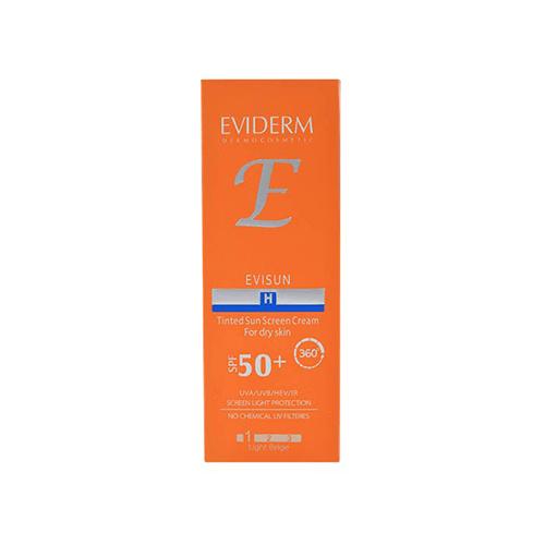 کرم ضد آفتاب رنگی +SPF50 اوی سان پوست خشک اویدرم
