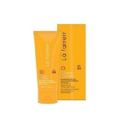 کرم ضد آفتاب و ضد لک بی رنگ لافارر(مناسب پوست خشک و معمولی)