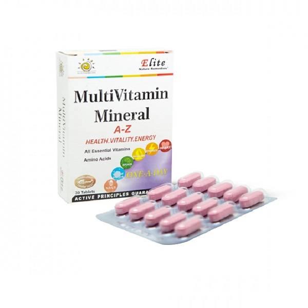 قرص مولتی ویتامین مینرال 30 عددی الیت